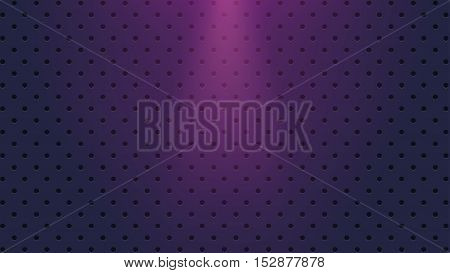 illustration of a lot of holes on dark blue color background with bright light