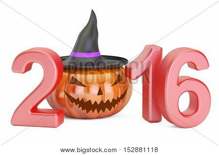 Halloween 2016 concept 3D rendering isolated on white background