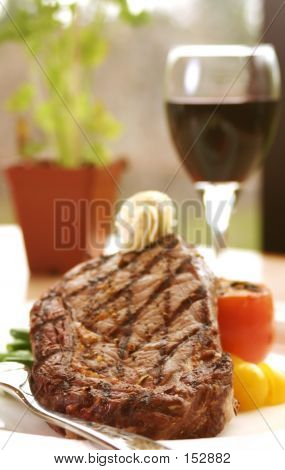 RIB-eye Steak com vinho