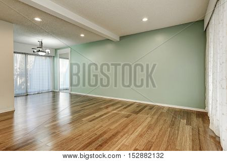 Green And Mint Interior Of Empty Room