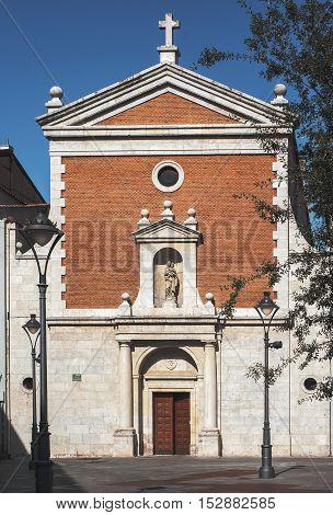 Church of Saviour 16 th century in Valladolid, Castilla-Leon, Spain
