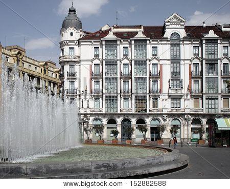 View of typical building in Valladolid, Castilla y Leon, Spain