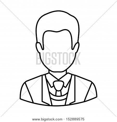 avatar male man wearing suit and tie over white background. vector illustration