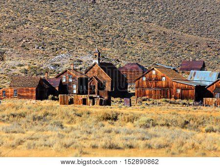 Ghost town preserve in Bodie California