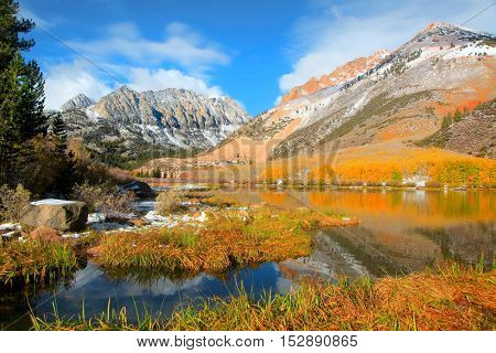 Scenic North lake landscape near Bishop California