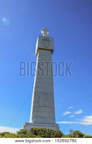The Cross of Vasco da Gama monument at the Cape of Good Hope Nature Reserve, SECTIO of Table Mountain National Park in South Africa.