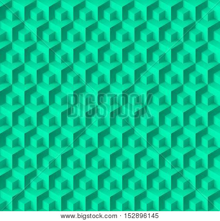 Abstract geometric background with cubes for creative design
