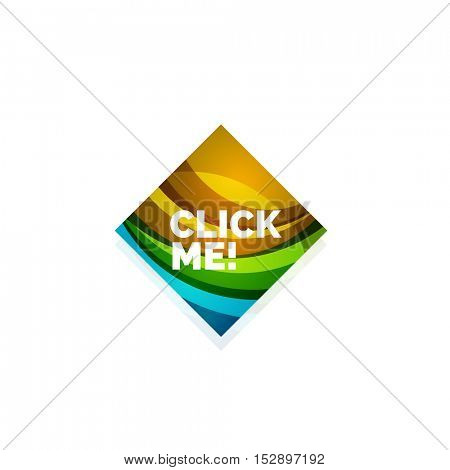 abstract square button template. Minimalistic geometric clean style