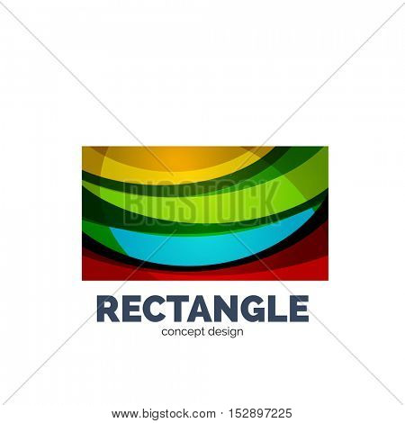 rectangle logo, abstract template