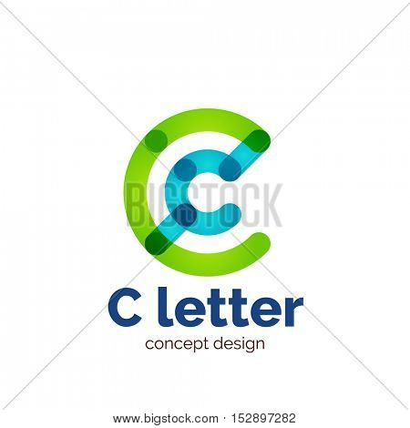 modern minimalistic letter concept logo template, abstract business icon