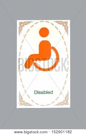 Retro Sign of disabled toilet rest room