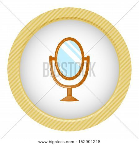 Mirror colorful icon. Vector illustration in cartoon style