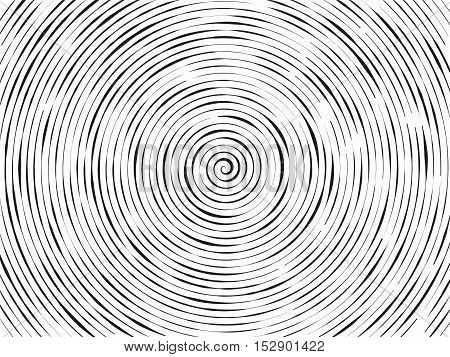 Black And White Abstract Modern Concentric Circles Texture,