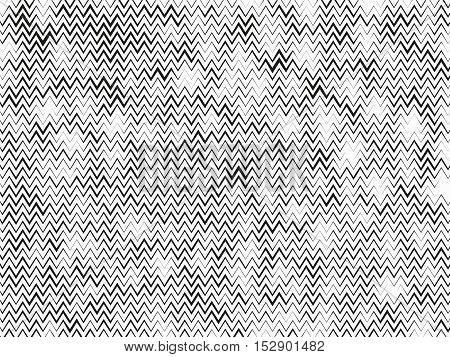 Wavy, Zig-zag Horizontal Parallel Lines.