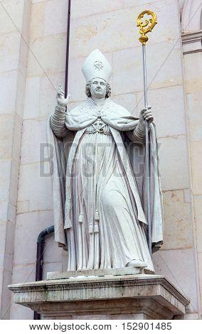 Saint Rupert statue at Salzburg Cathedral, Austria
