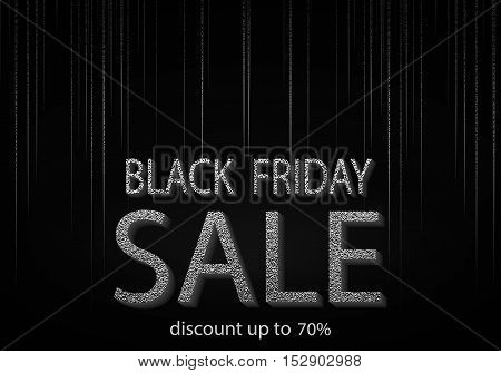 Black Friday Sale Inscription Design Template.