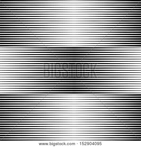 Line Halftone Pattern With Gradient Effect. Gorizontal Lines.