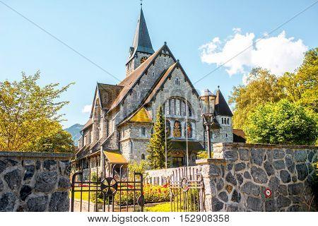 Church of Saint Nicholas in Balzers town in Liechtenstein
