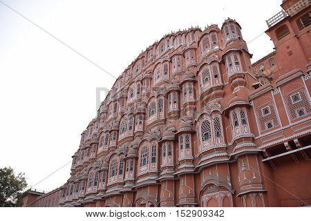Wind Palace (Hawa Mahal) and its windows, Jaipur, Rajasthan, India
