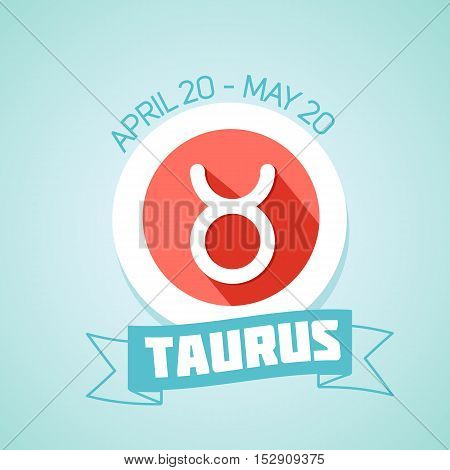 Taurus zodiac sign in circular frame vector Illustration. Contour icon.