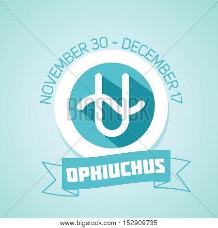 Ophiuchus zodiac sign in circular frame-13 zodiac sign vector Illustration . Contour icon.