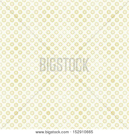 Seamless pattern. Abstract halftone background. Modern stylish texture. Repeating halftone tiles with geometric flowers of the different size. Vector contemporary design