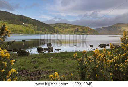 Beautiful Irish landscape of the Lough Dan lake
