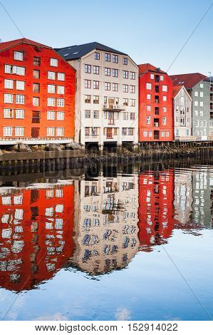 Trondheim, Colorful Old Wooden Houses