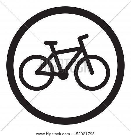 Bike icon black. Cycle icon and bicycle icon mountain bike logo vector illustration
