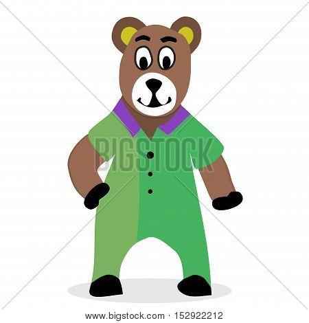 Bear cartoon vector. Teddy bear and brown bear animal bear vector illustration