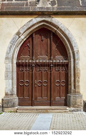 Image of Closed Grand Entrance to the Church