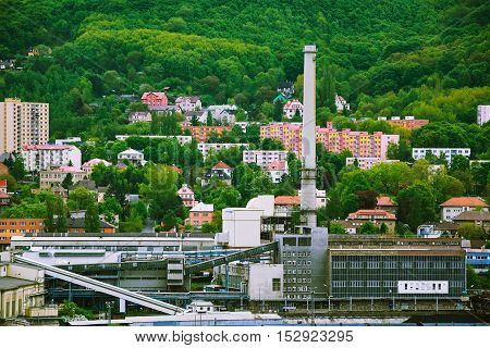 View of the Factory in the city of Usti nad Labem