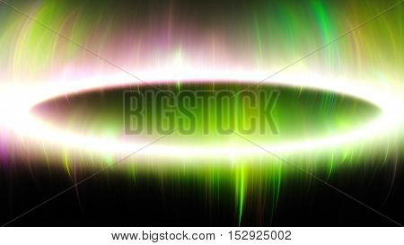 Beautiful northern lights. 3D surreal illustration. Sacred geometry. Mysterious psychedelic relaxation pattern. Fractal abstract texture. Digital artwork graphic astrology magic