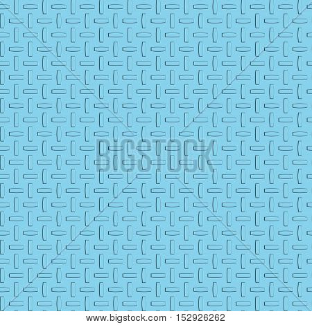 Metal diamond plate seamless blue texture for design