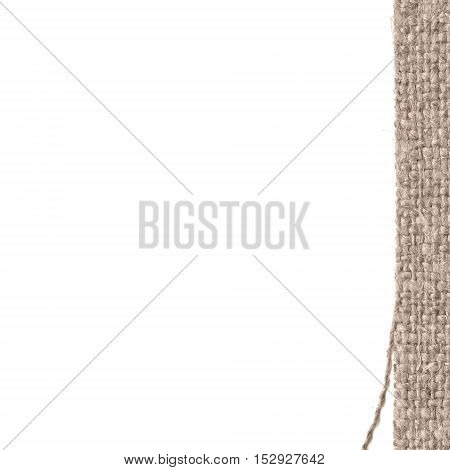 Textile tissue, fabric space, yellow canvas, antique material flat background