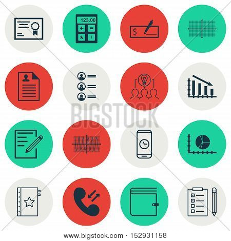 Set Of 16 Universal Editable Icons For Management, School And Airport Topics. Includes Icons Such As