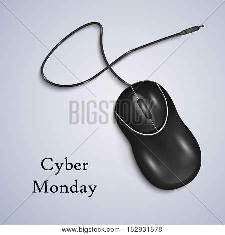 Illustration of mouse isolated for Cyber Monday