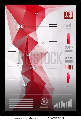 Vector polygonal infographic design template.