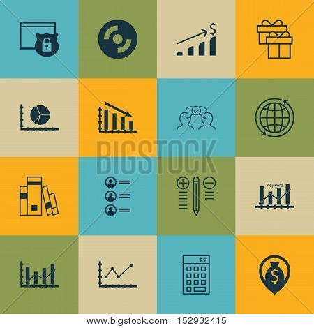 Set Of 16 Universal Editable Icons For Project Management, Marketing And Hr Topics. Includes Icons S