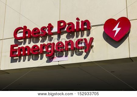 Red Emergency Entrance Sign for a Local Hospital XVII