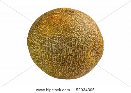 Melon ripe fruit insulated on white background
