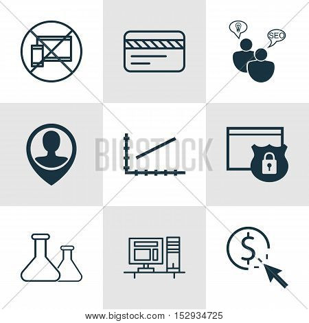 Set Of 9 Universal Editable Icons For Project Management, Human Resources And Tourism Topics. Includ