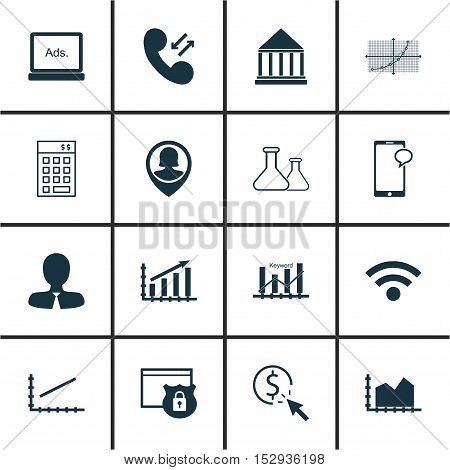 Set Of 16 Universal Editable Icons For Human Resources, Computer Hardware And Hr Topics. Includes Ic