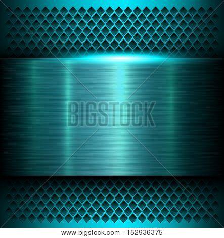 Metal background, polished metallic texture, vector illustration