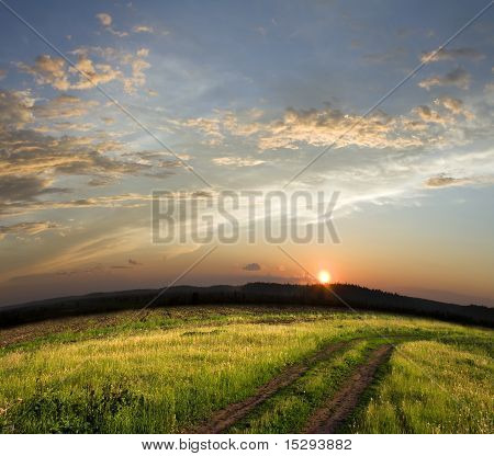 Sunset Above Field
