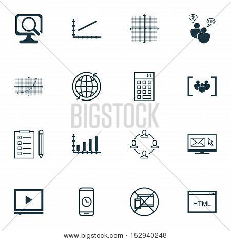 Set Of 16 Universal Editable Icons For Seo, Traveling And Travel Topics. Includes Icons Such As Codi