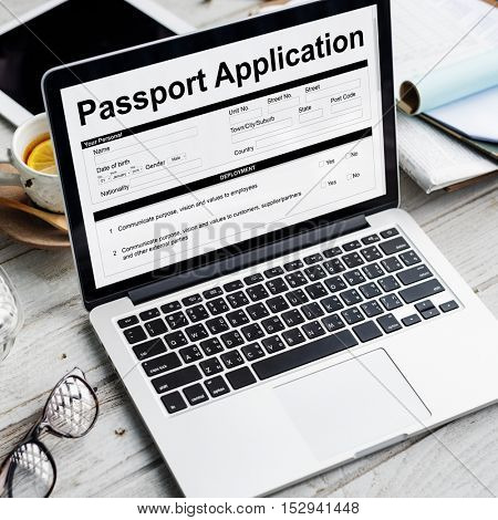 Passport Application Form FIlling Concept