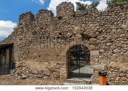 Entrance of the castle of Lamia City, Central Greece