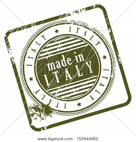Grunge rubber stamp made in Italy, vector illustration