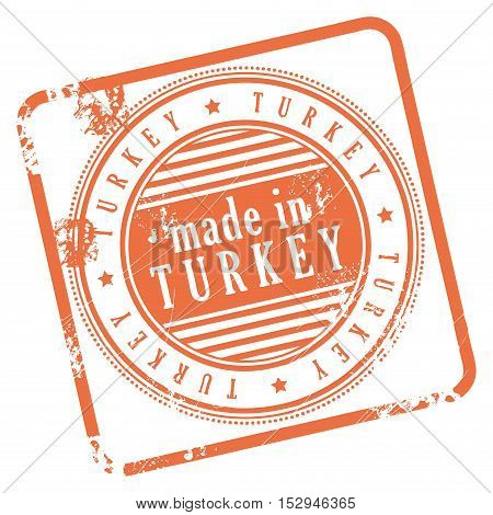 Grunge rubber stamp made in Turkey, vector illustration